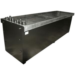 Bulk oil storage bench tanks